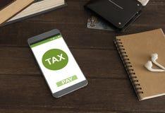 Indienend online belastingen royalty-vrije stock fotografie