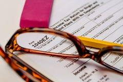 Indienende Belastingen en Belastingsvormen Royalty-vrije Stock Foto's