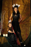 Indiennes de maman et de fille Photographie stock