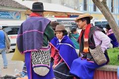 Indiens de Guanbano en Silvia Market, Colombie Photographie stock libre de droits