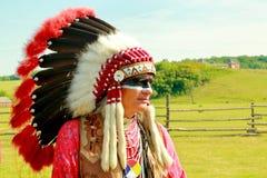 Indier av det Lakota folket Arkivfoton