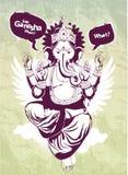 indier för bild för ganeshagrafittiförebild Royaltyfri Bild