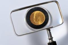 indier för guld för mynt 1912 Royaltyfria Bilder
