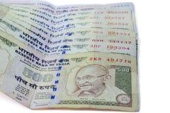 Indier förbjuden valuta av rupien 1000 Arkivbild