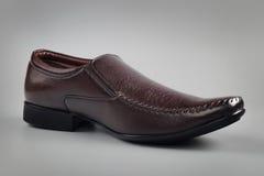 Indier gjord sko för man` s royaltyfri foto