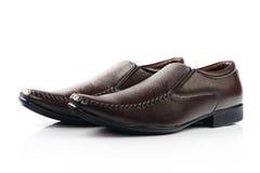 Indier gjord sko för man` s royaltyfri bild