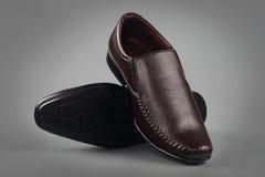 Indier gjord sko för man` s royaltyfri fotografi