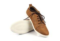Indier gjorda skor för man` s arkivbilder
