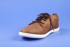 Indier gjorda skor för man` s royaltyfri foto