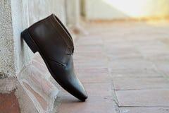 Indier gjorda skor för man` s royaltyfri bild