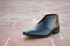 Indier gjorda skor för man` s royaltyfri fotografi
