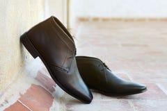 Indier gjorda skor för man` s arkivfoto