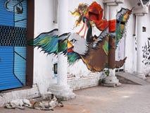 Indier Graffitti Arkivbild