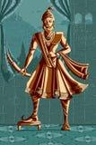 Indier Raja Shivaji med svärdet Royaltyfria Bilder