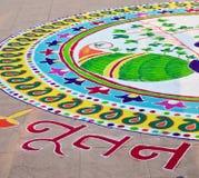 Indier Rangoli royaltyfria foton