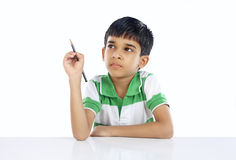 Indier skolar pojken Arkivbilder