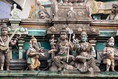 indier skulpterar tempelet Arkivbilder