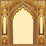 Indier smyckad båge Färgguld royaltyfri fotografi