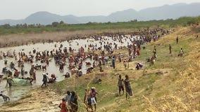 Indier som fiskar festival Royaltyfri Foto