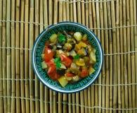Indier stekte grönsaker Arkivfoto