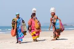 indier tre kvinnor Royaltyfria Bilder