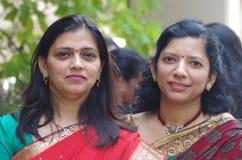 indier två kvinnor Fotografering för Bildbyråer