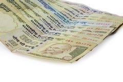 Indiern förböd valuta av rupien 1000, 500 Royaltyfria Bilder