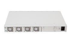 Indietro del commutatore di Ethernet di gigabit con la scanalatura di SFP Fotografia Stock