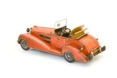 Indietro del modello rosso del oldtimer fotografie stock