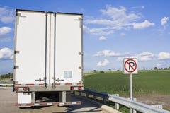Indietro del Semi-Camion Immagine Stock Libera da Diritti