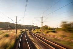 Indietro del treno Fotografia Stock Libera da Diritti