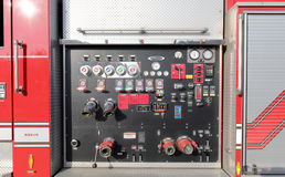 Indietro dell'autopompa antincendio Fotografia Stock