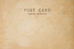 Indietro della cartolina in bianco d'annata fotografia stock libera da diritti