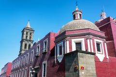 Indietro della cattedrale di Puebla Fotografia Stock