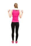 Indietro della donna di forma fisica integrale Fotografia Stock Libera da Diritti