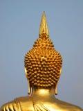 Indietro della scultura della testa di Buddha fotografie stock