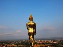 Indietro della scultura di Buddha fotografie stock