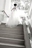 Indietro della sposa fotografie stock libere da diritti