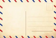 Indietro delle cartoline dell'annata fotografie stock libere da diritti