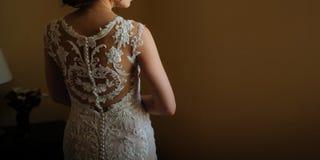 indietro di bella sposa immagine stock