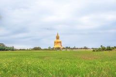 Indietro di grande statua Buddha fotografia stock