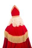 Indietro di Sinterklaas su fondo bianco Fotografia Stock