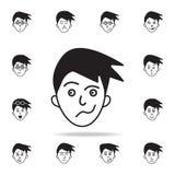 indifférence sur l'icône de visage Ensemble détaillé d'icônes faciales d'émotions Conception graphique de la meilleure qualité Un illustration de vecteur