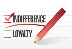 Indifference selected illustration design Royalty Free Stock Image