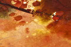 Indifferent detail of watercolor painting, beautiful colors and Royalty Free Stock Image
