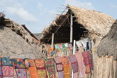 An indigen tribe settlement Royalty Free Stock Photography