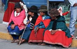 Indigence Ecuadorian women Stock Image