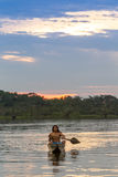 Indigeni del parco nazionale di Cuyabeno Ecuador immagine stock libera da diritti