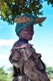Indigeni - sorridere della donna di herero Fotografia Stock Libera da Diritti