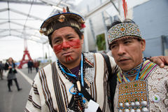 Indigenous activists at climate conference Royalty Free Stock Images